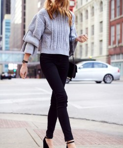 via Fashion Jackson - What to Wear Ruffle Sweater For This Fall