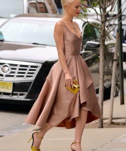Metallic Heels via Kate Bosworth Street Style