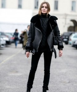 A shearling jacket or coat is a piece that never goes out of style and is worth the investment.