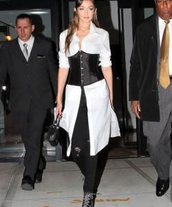 Gigi Hadid in a corset