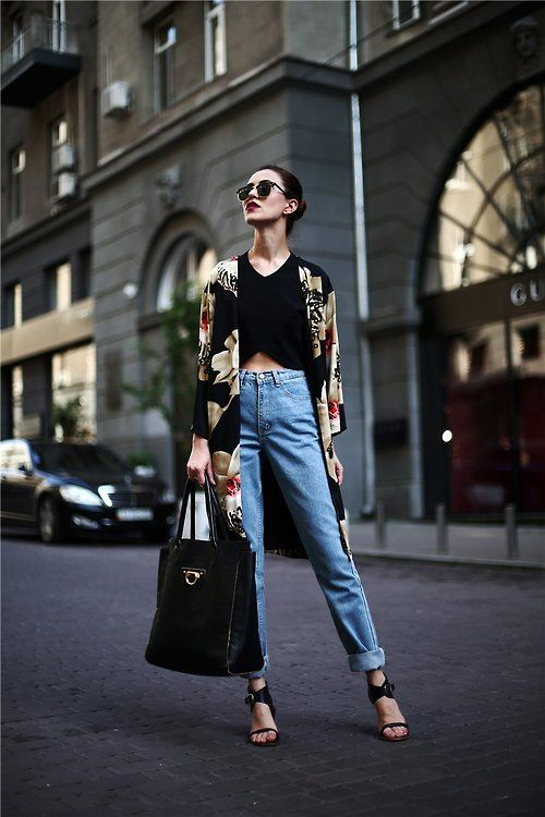 Tina Sizonova - How To Style A Kimono Coat Like Fashion Bloggers