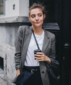 blazer style via polienne.com
