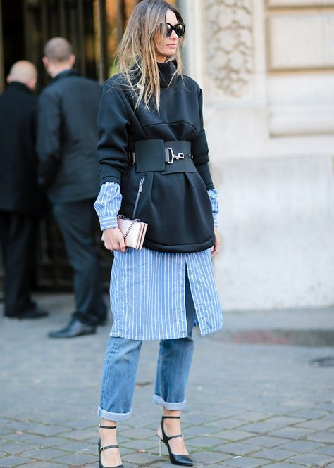 how to wear a corset with jeans via SheerLuxe