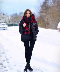 Black Puffy Jacket via Stylecaster