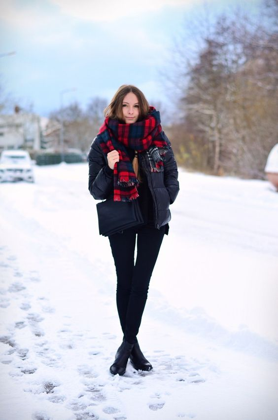 Black Puffy Jacket via Stylecaster