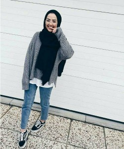 Casual Winter Hijab Outfit