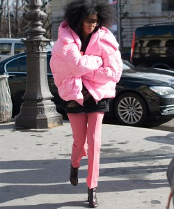 PINK PUffy Jacket via Getty Images