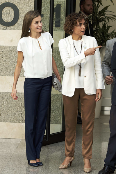 Queen Letizia of Spain Loose Blouse