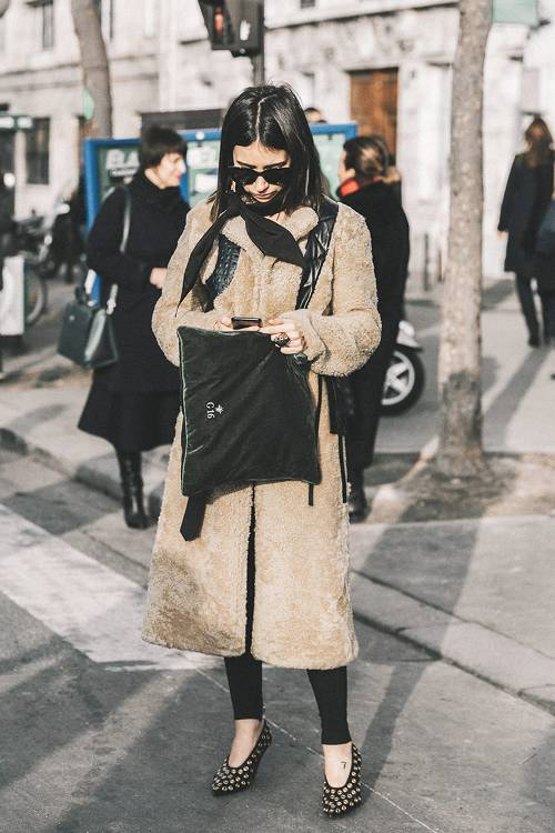 Pair your favorite winter coat with closed-toe heels to elevate your outfit.