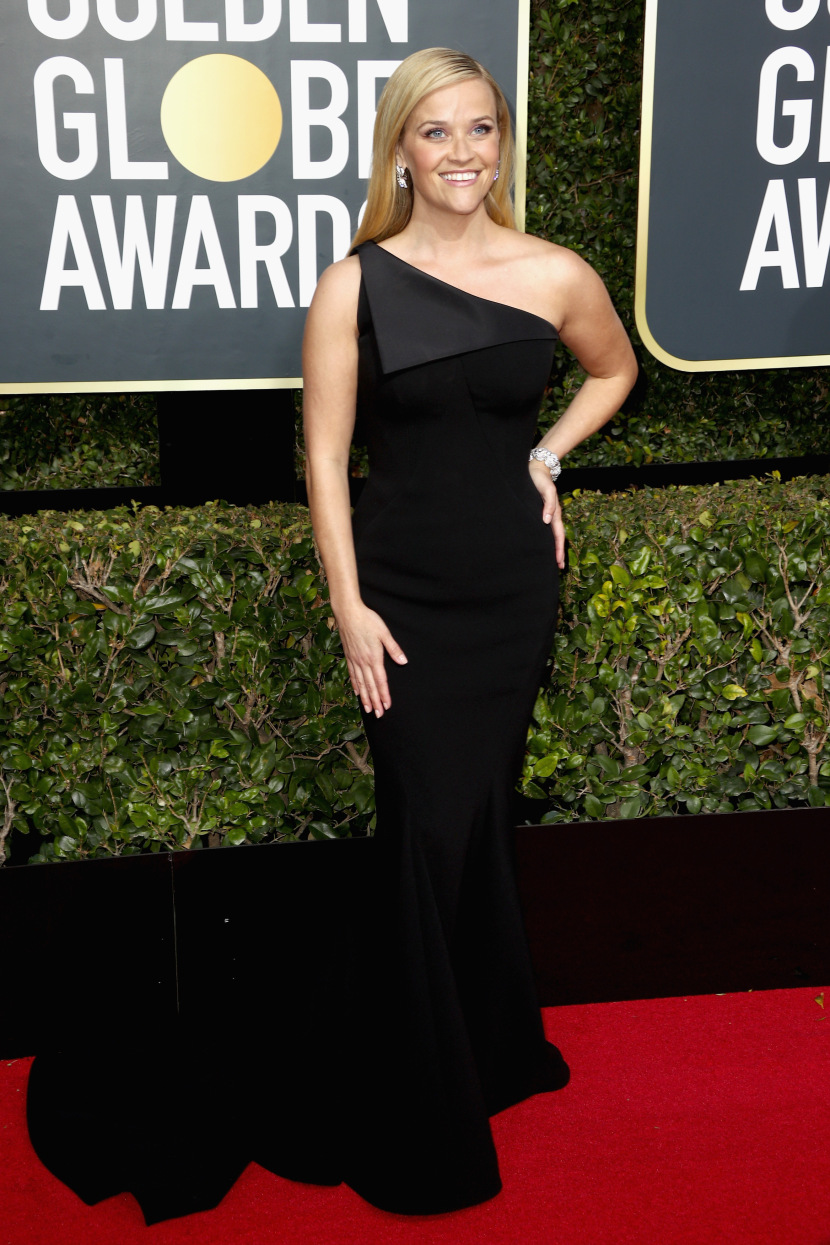 BEVERLY HILLS, CA - JANUARY 07:  Reese Witherspoon attends The 75th Annual Golden Globe Awards at The Beverly Hilton Hotel on January 7, 2018 in Beverly Hills, California.  (Photo by Frederick M. Brown/Getty Images)