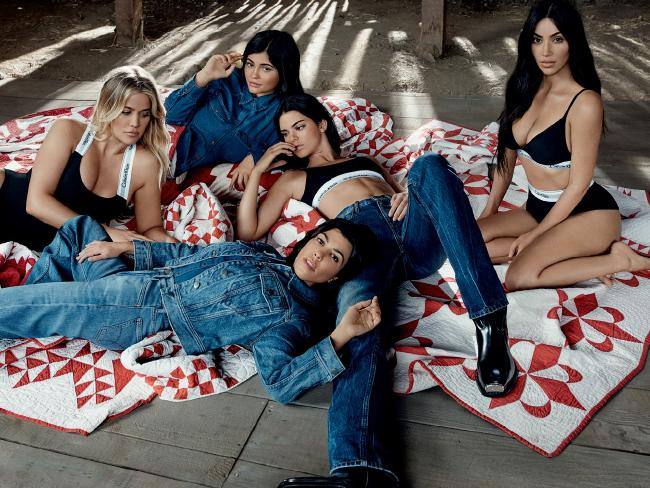 The campaign also featured Calvin Klein's denim line, as seen on Kylie, Kendall and Kourtney.