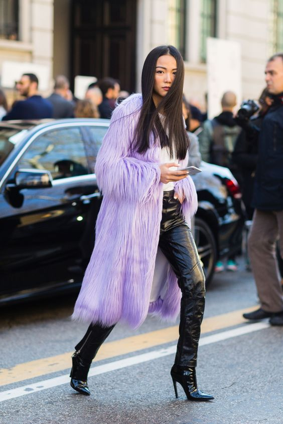 lavender jacket is everything, the color the texture the cut