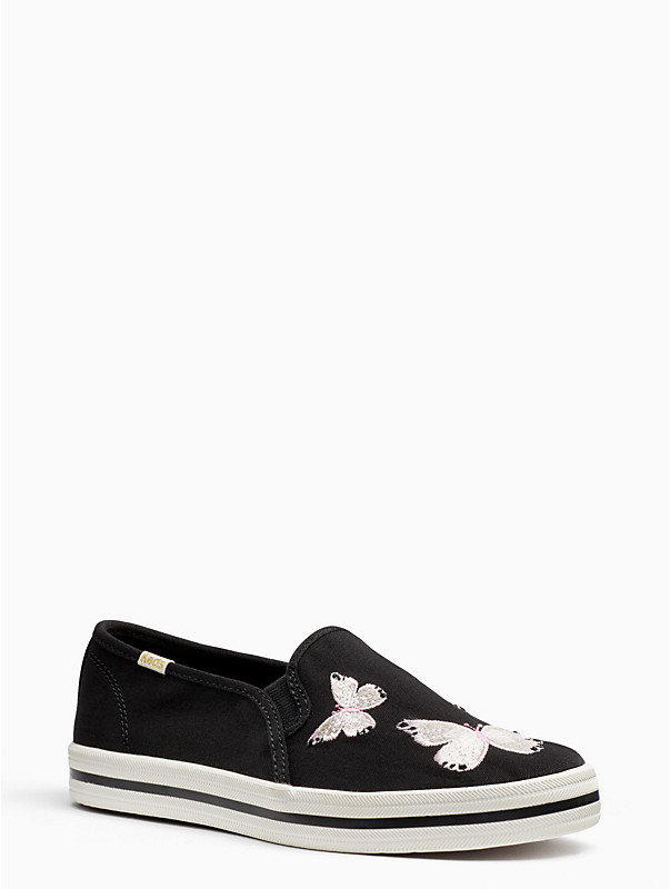 keds x kate spade new york double decker sneakers in canvas