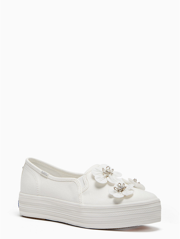 keds x kate spade new york triple decker sneakers in embellished floral