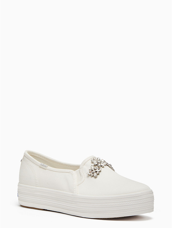 keds x kate spade new york triple decker sneakers in embellished rhinestone
