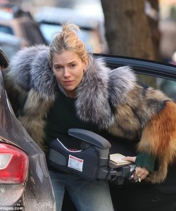 sienna miller fur   The Affordable Fur Coat Trends Are Celebrity Approved For Winter Outfit