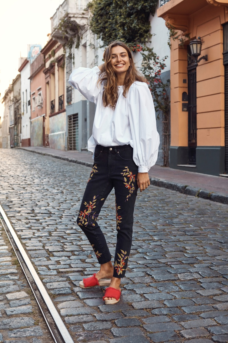 Andreea Diaconu stars in H&M's spring 2018 campaign