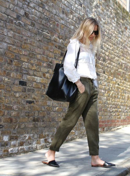Flat Mules Fashion via The Fashion Medley