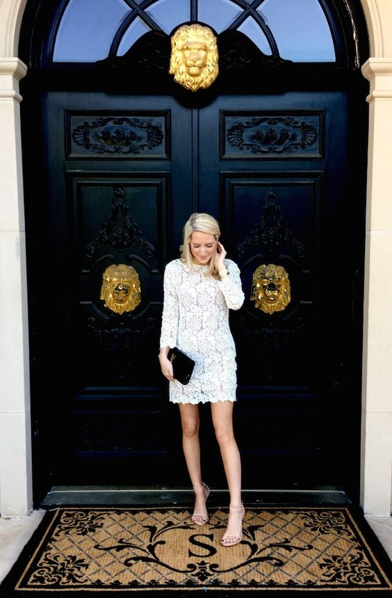 Formal Outfit with floral lace dress