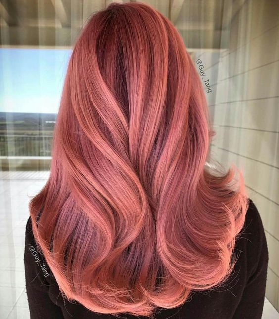 3 Best Summer Haircolor Ideas You Need To Try Rose Gold hair Color
