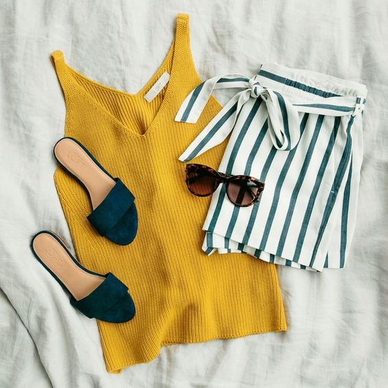 Summer Outfit Ideas For Fashion Girls That Wear Only Flats