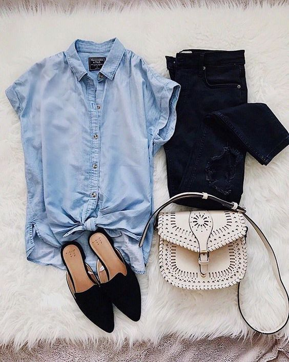 Love both the blouse and shoes