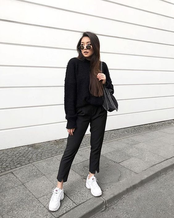 Dad sneakers outfit