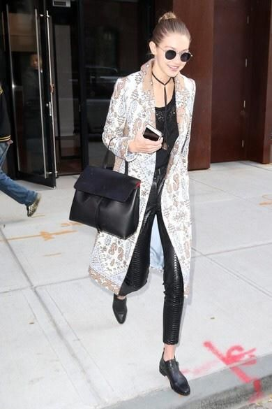Gigi Hadid wearing Mansur Gavriel Lady Bag