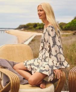 H&H&M Off-the-Shoulder Dress