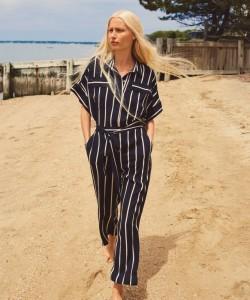 H&M Striped Jumpsuit