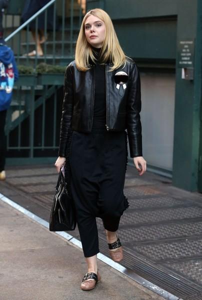 Leather Jacket and Harem Pants