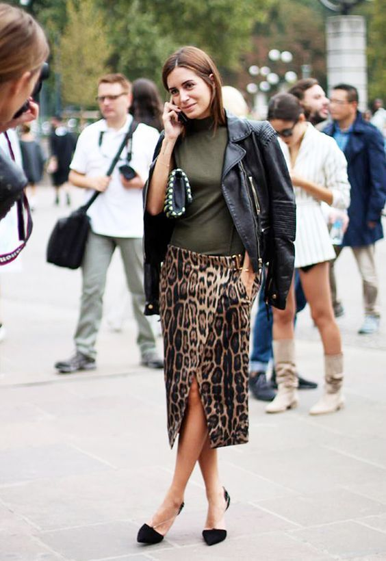 Wear Animal Print Skirts