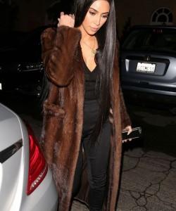 kim kardashian mink coat style