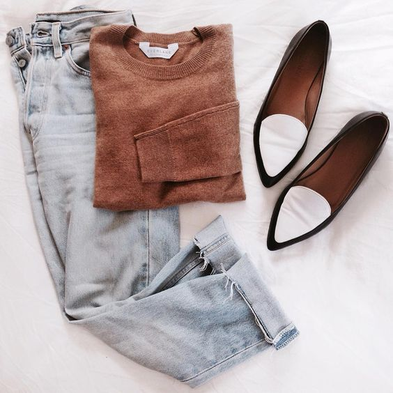 Everlane sweater and shoes, vintage levis
