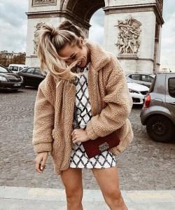 Oversize Faux Fur Fuzzy Jacket