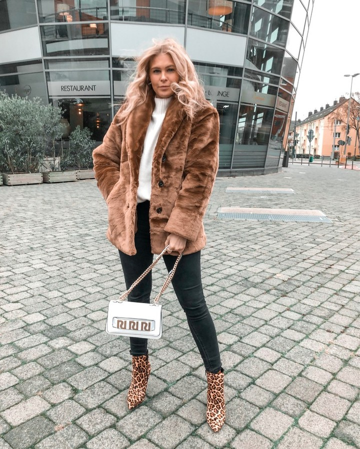 @sunnyinga's faux fur and leopard statement booties