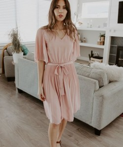 Waverly Dress in Blush – One Loved Babe