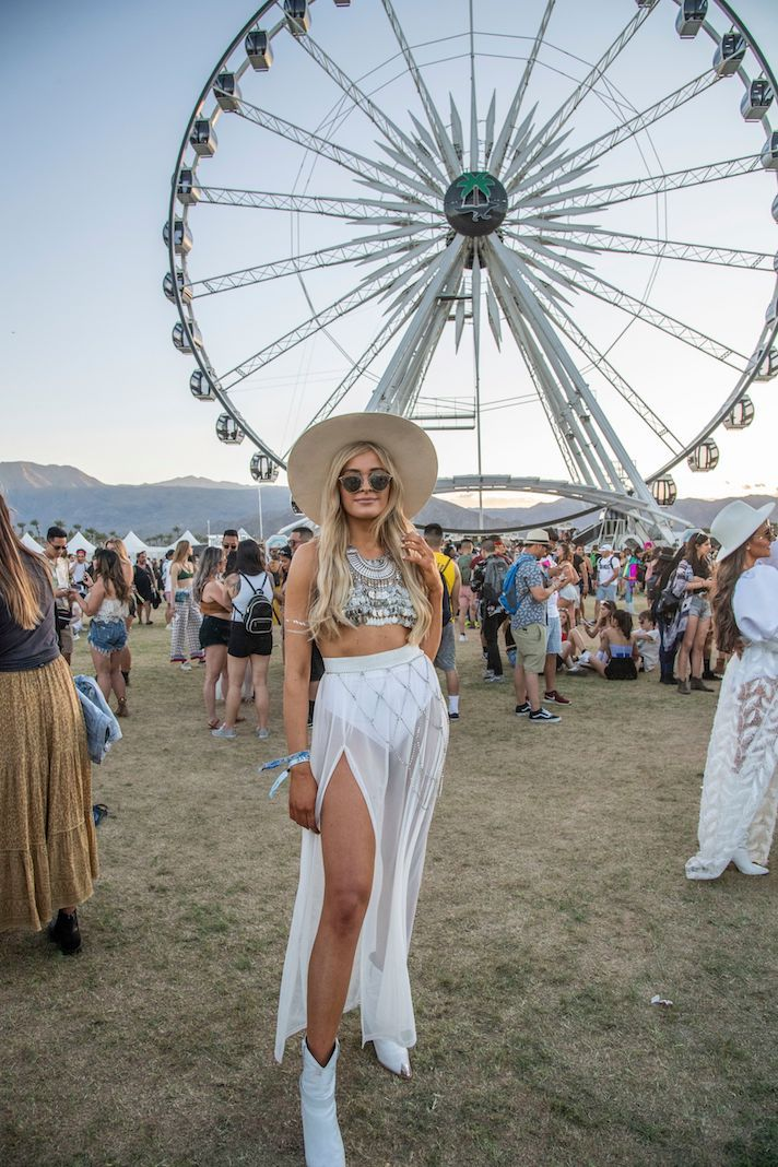 Mandatory Credit: Photo by Amy Harris/Invision/AP/REX/Shutterstock (10203035et) Louise Cooney of Dublin, Ireland attend the Coachella Music & Arts Festival at the Empire Polo Club, in Indio, Calif 2019 Coachella Music And Arts Festival - Weekend 1 - Day 1, Indio, USA - 12 Apr 2019