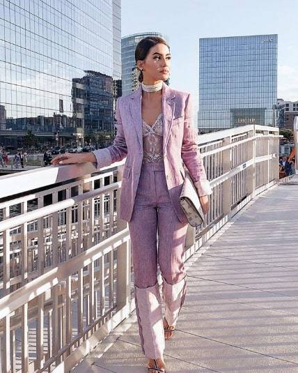 2019 Spring Trend Purple Outfits That Fashion Girl–Approved
