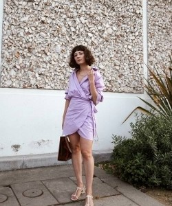 Replace your white dresses with lilac ones this summer.
