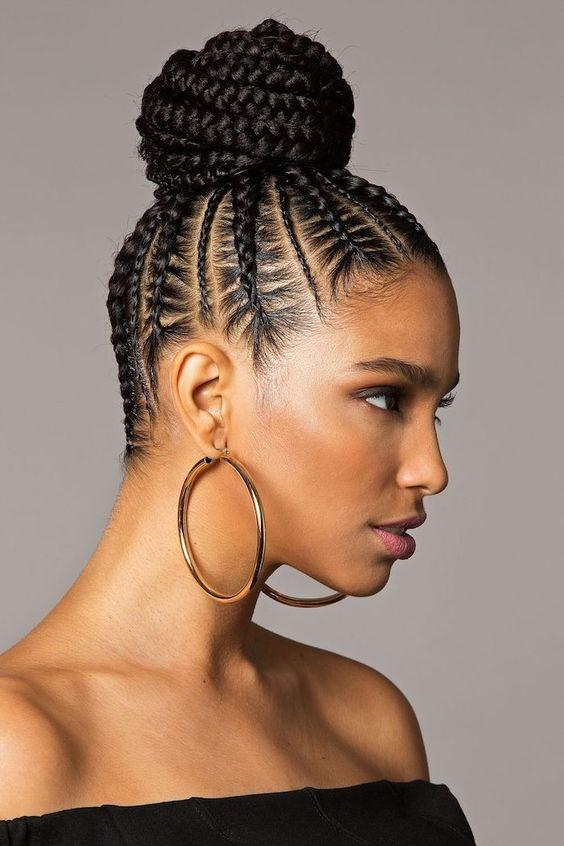 braided black hair