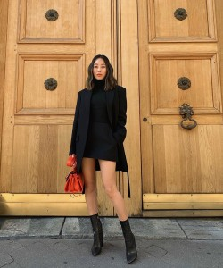 @aimeesong Went with an all black outfit