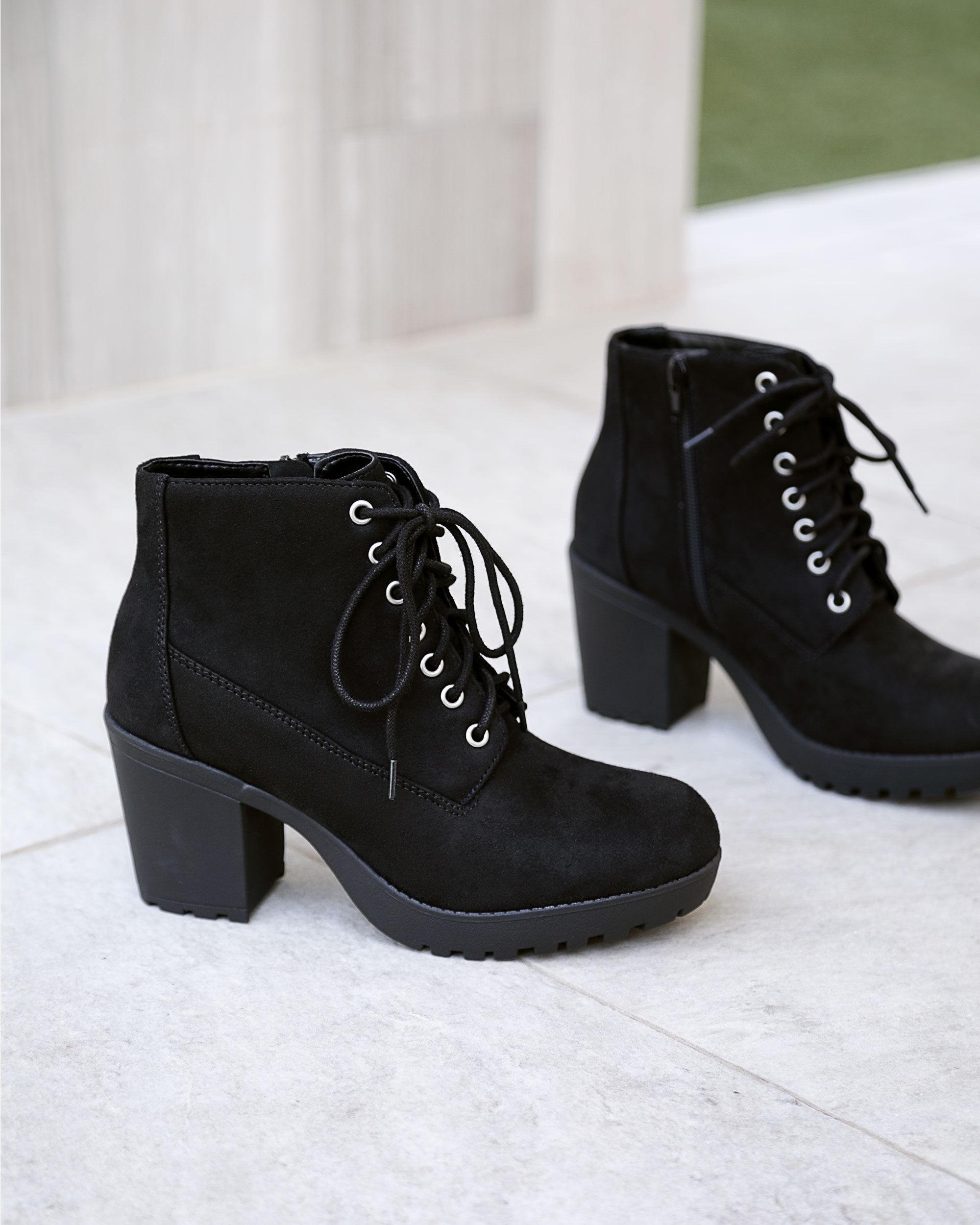Charlize Lace-Up Booties