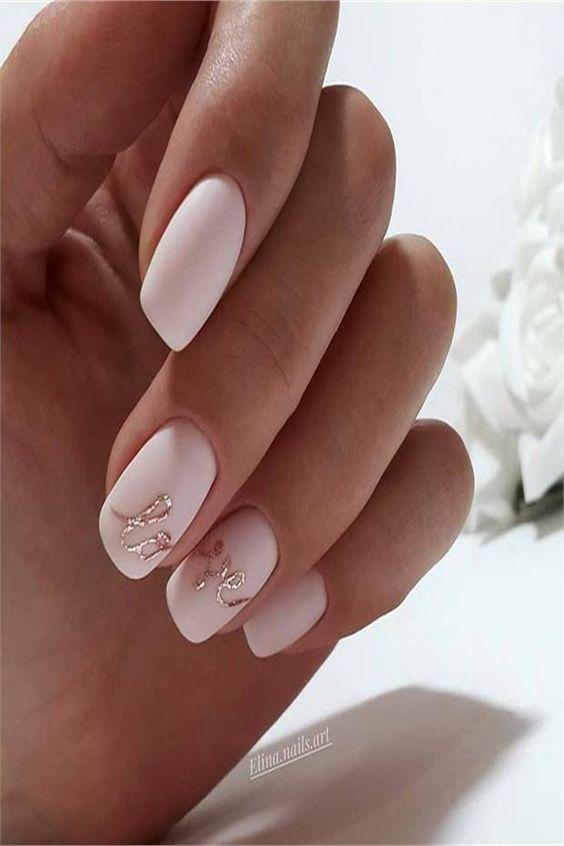 Elegant Wedding Nails Design