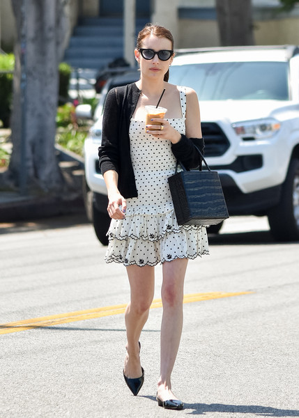 Emma Roberts Embroidered Dress