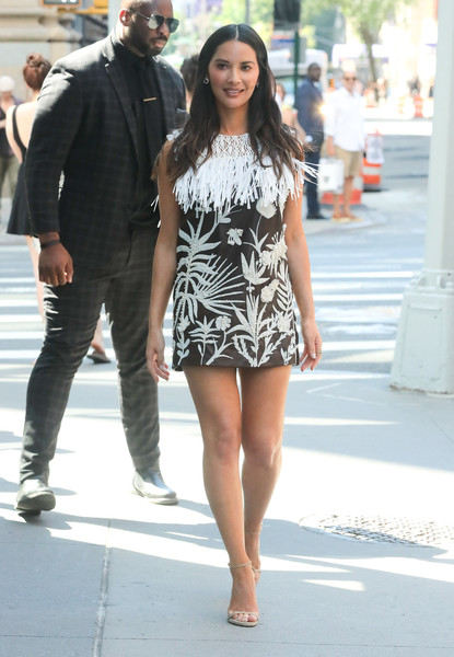 Olivia Munn Fringed Dress