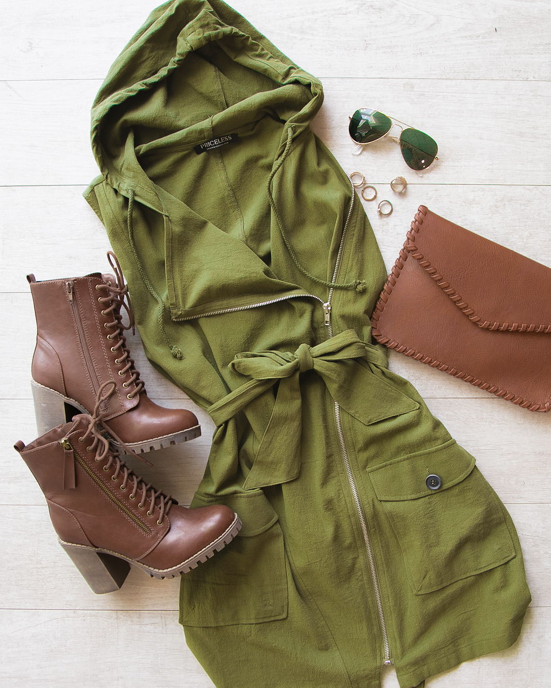 EASTON OLIVE DRESS