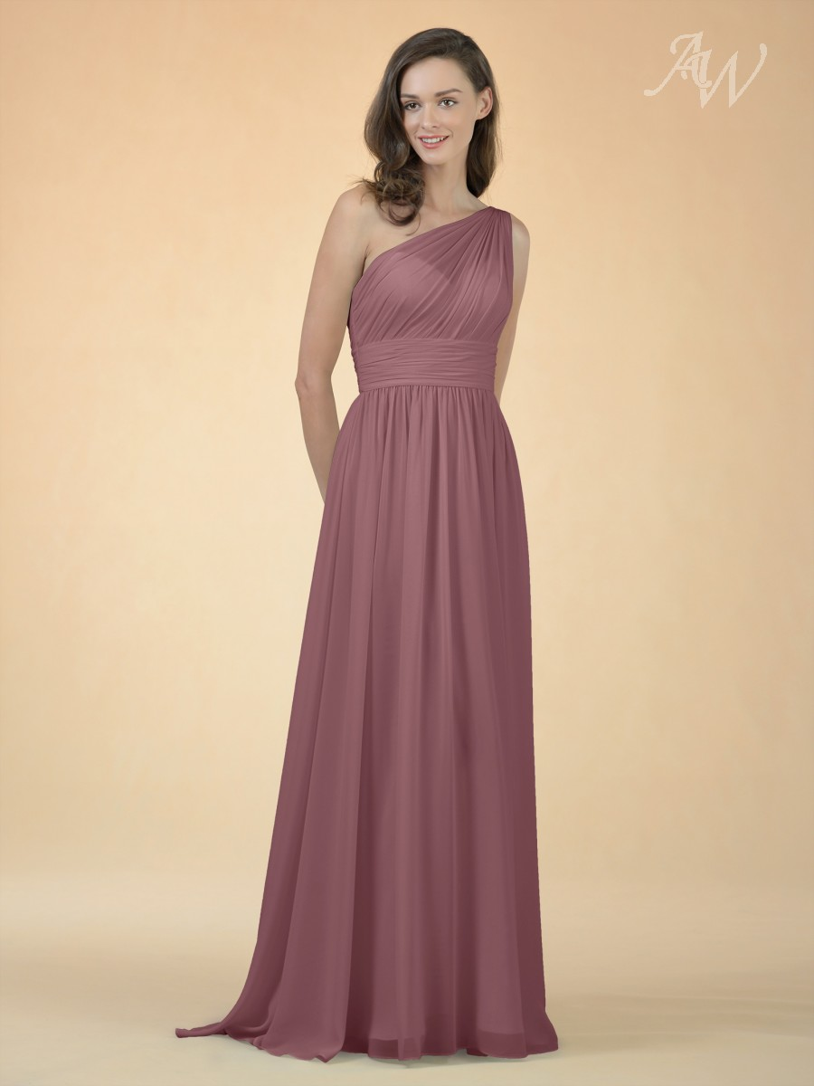 Gracia One Shoulder Bridesmaid Dress-Orchid Mist