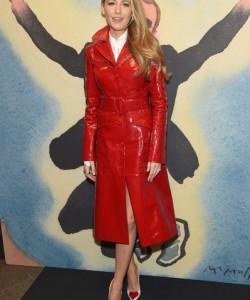 Blake Lively Leather Coat