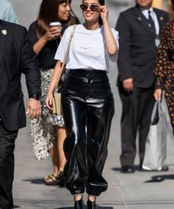 Naomi Scott Leather Pants